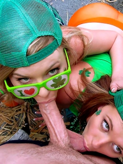 St. Patricks Day with Brooke Wylde and Lexi Davis - Hardcore 3some