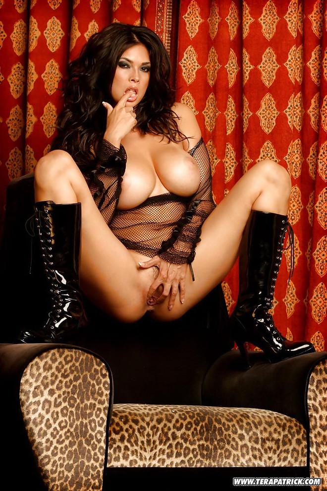 Busty Hot Asian Milf Pornstar Tera Patrick Naked Spreading Legs By Pool