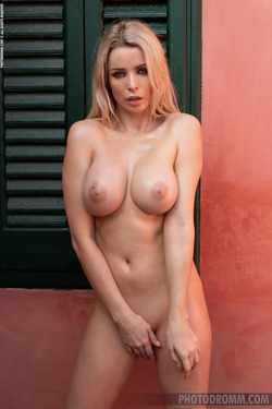 Busty Katya - Hot in the Terrace - pics 10