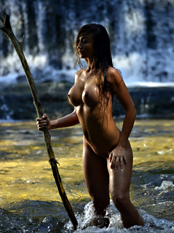 Croatian Playmate Arijana Maric - Soaking Wet Lady in Outdoors